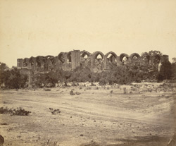 [View of the unfinished tomb of Ali Adil Shah II, Bijapur.]